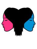 bunt paar 2 frauen team freunde freundin schwester kopf gesicht weiblich frau girl mädchen hübsch schön schlafen ruhe clipart design - 232733982