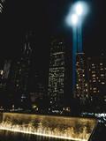 World Trade Center memorial, New York City taken on September 11 2018, commemorating 17 since September 11.