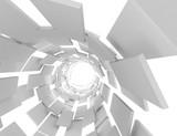 Fototapeta  - 3D futuristic abstract background . 3d rendered illustration © andrii