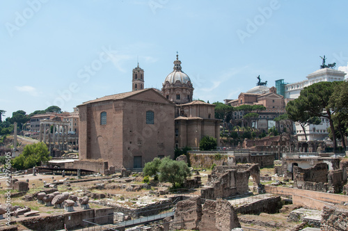 Widok na Forum Romanum (Włochy)