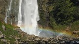 Waterfall scenic with rainbow. Slow Motion Footage - 232771991