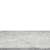 Empty concrete table on isolated white and background. - 232775572