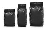black blank foil  bag packaging