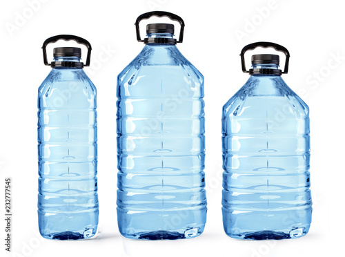 set of plastic water bottles isolated - 232777545
