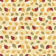 Seamless pattern with plant pattern from leaves. - 232786306