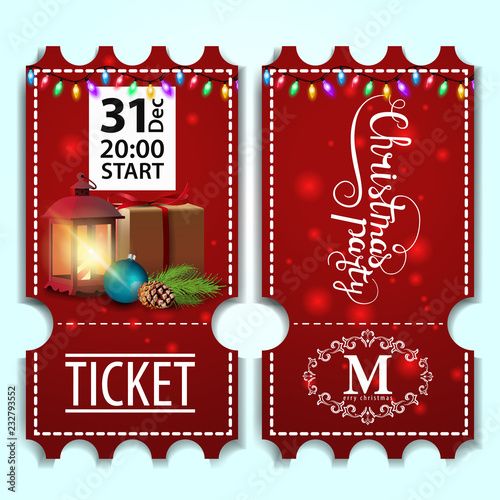 christmas party ticket template with antique lamp buy photos ap