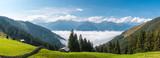 nebel in den Alpen
