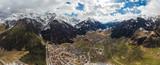 stubai alps panorama, tirol, austria