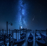 Milky way over Grand Canal in Venice, Italy