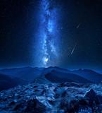 Stunning milky way over Tatra mountains at night, Poland - 232799777