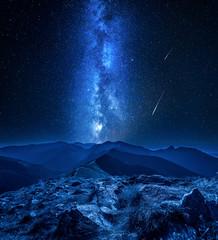 Stunning milky way over Tatra mountains at night, Poland © shaiith