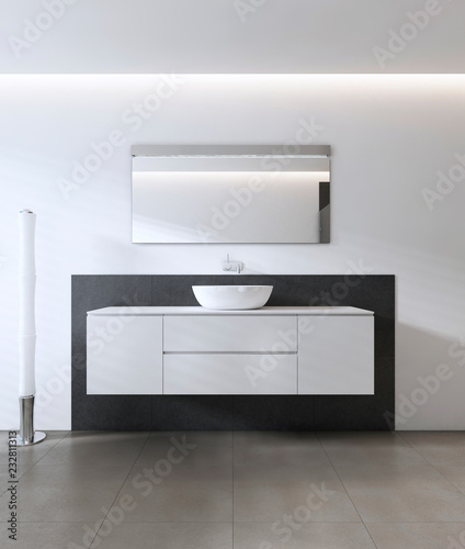 Leinwanddruck Bild Sink vanity contemporary style.