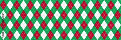 Czerwony i zielony baner Argyle