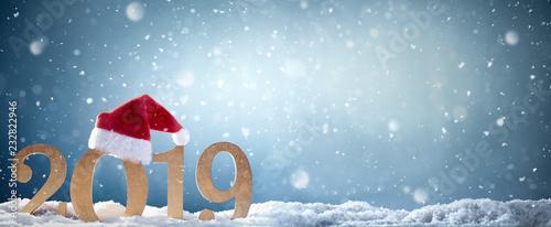 Leinwanddruck Bild New year 2019