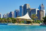 Skyscrapers of Abu-Dhabi from Persian gulf - 232830501