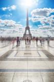 Eiffel Tower at sunny day. © mshch