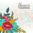 Floral frame with colorful flower. - 232846184