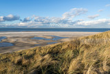 Dutch North Sea coast at Paal 31 on Dutch island of Texel