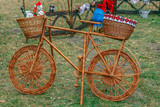 Decorative bike made from twigs - 232863743
