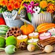 Leinwandbild Motiv Dekoration im Herbst