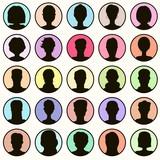 head silhouettes set