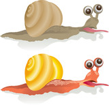 vector image of a snail aspiring to the goal