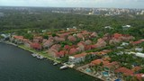 Aerial video residential homes Coconut Grove Miami Florida - 232875733