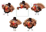 Turkey character on white background © blueringmedia