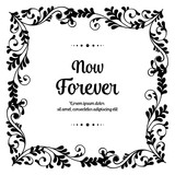 Hand draw vector floral for now forever card © StockFloral