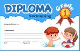 Swimming diploma certificate template - 232901177