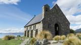 The Church of the Good Shepherd ashore of lake Te Kapo, New Zealand - 232904379
