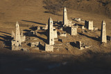 Ancient stone towers close-up. The Republic of Ingushetia. - 232913339