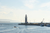 Lighthouse at the mouth of the river Turk. Baikal Harbor - 232917135