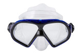 blue diving mask, on a white background, swimming goggles, isolate - 232918540