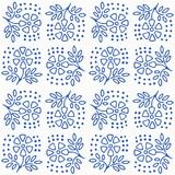 Indigo blue hand drawn vector seamless pattern. Porcelain - style surface design for fabric, wrapping paper or backdrop. - 232920304
