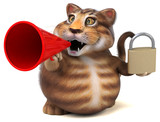 Fun cat - 3D Illustration - 232920706