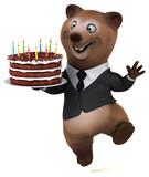Fun bear - 3D Illustration - 232920747
