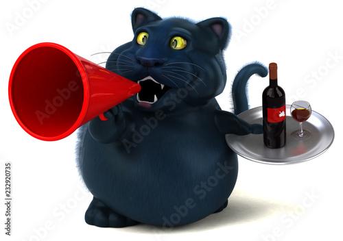 Fun cat - 3D Illustration - 232920735