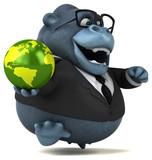 Fun gorilla - 3D Illustration - 232920919