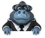 Fun gorilla - 3D Illustration - 232920940