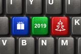Computer keyboard with Christmas keys - 232921143