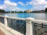 Embankment on the banks of the river Pregolya. Kaliningrad city. Russian Federation - 232922781