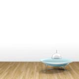 3d illustration rendering of ufo on parquet floor - 232952168