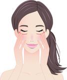 女性の顔-美容、コスメ、メイク向け - 232953786