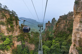 Cableway in Tianzi Avatar mountains nature park - Wulingyuan China - 232957562