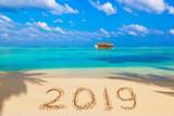 Numbers 2019 on beach - 232957582