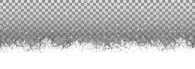 Transparenter Hintergrund Schneelandschaft © Matthias Enter