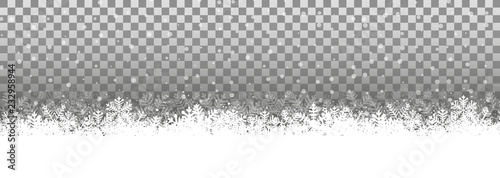 Transparenter Hintergrund Schneelandschaft - 232958944