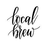 Local beer vector lettering design for craft bottles or stamps - 232968326