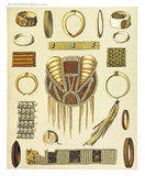 Ancient collection of african tribal ethnic bracelets and decorations, West and North coast of Dutch New Guinea, isolated elements. By F.S.A. De Clercq and J.D.E. Schmeltz Leiden 1893 New Guinea - 232972913